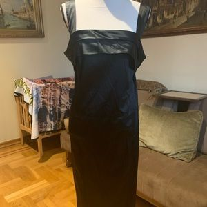 Max Mara Marina Rinaldi stretch satin dress Sz 16